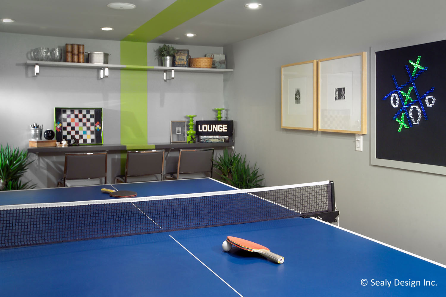 Photos sealy design inc for Basement game room design